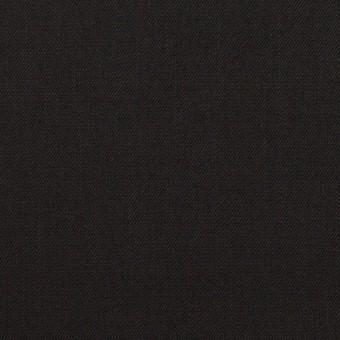 ビスコース&ウール混×無地(ブラック)×サージ_イタリア製 サムネイル1