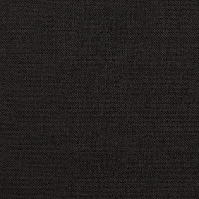 ビスコース&ウール混×無地(ブラック)×サージ_イタリア製 イメージ1