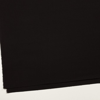 ウール&キュプラ混×無地(ブラック)×サージストレッチ_イタリア製 サムネイル2