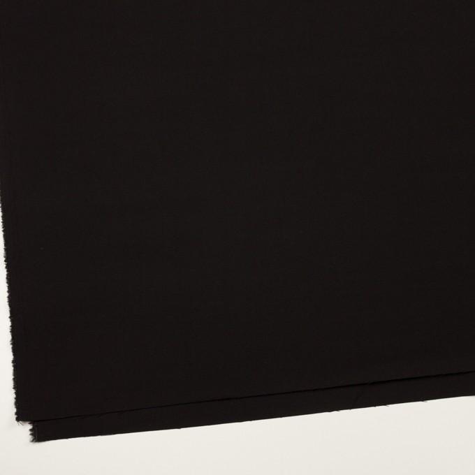 ウール&キュプラ混×無地(ブラック)×サージストレッチ_イタリア製 イメージ2