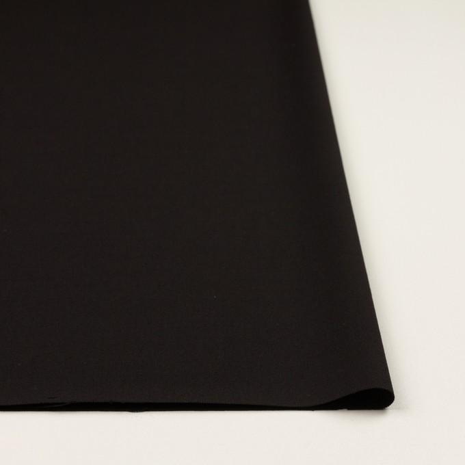 ウール&キュプラ混×無地(ブラック)×サージストレッチ_イタリア製 イメージ3