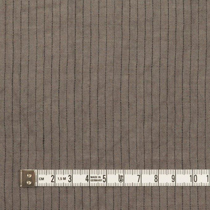 リネン×ストライプ(アッシュグレー)×薄キャンバス・ワッシャー イメージ4