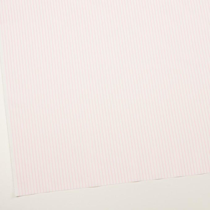 コットン&ポリウレタン×ストライプ(ベビーピンク)×ブロードストレッチ イメージ2