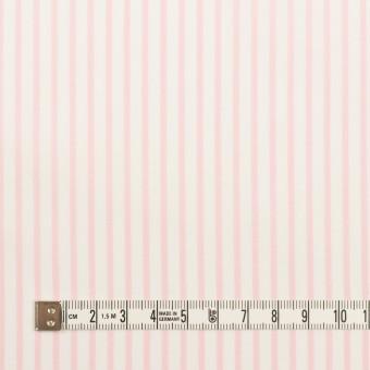 コットン&ポリウレタン×ストライプ(ベビーピンク)×ブロードストレッチ サムネイル4