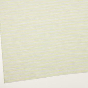 コットン×ボーダー(杢グレー&イエローグリーン)×ローンジャガード サムネイル2