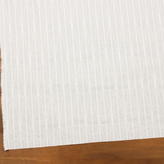 コットン&ナイロン混×無地(オフホワイト)×タテタック イメージ2