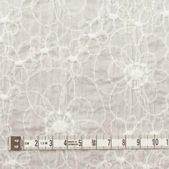 コットン×フラワー(オフホワイト)×ローン・シャーリング刺繍_全3色 サムネイル4