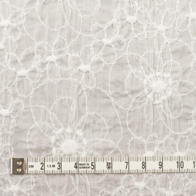 コットン×フラワー(オフホワイト)×ローン・シャーリング刺繍_全3色 イメージ4