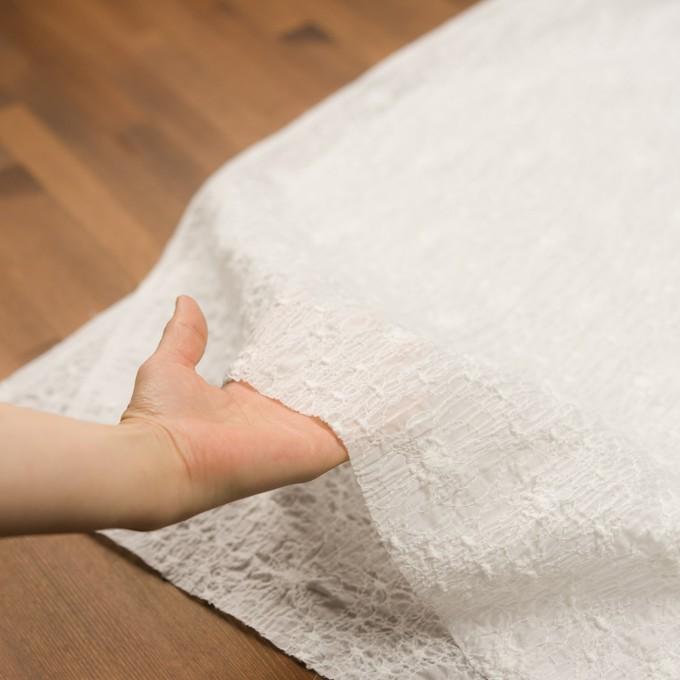 コットン×フラワー(オフホワイト)×ローン・シャーリング刺繍_全3色 イメージ5