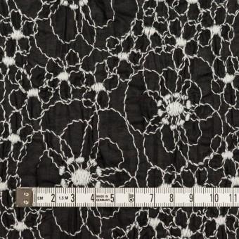 コットン×フラワー(ブラック&ホワイト)×ローン・シャーリング刺繍_全3色 サムネイル4