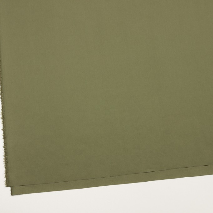 コットン&ポリウレタン×無地(カーキグリーン)×タイプライター(高密ローン)・ストレッチ_全4色 イメージ2