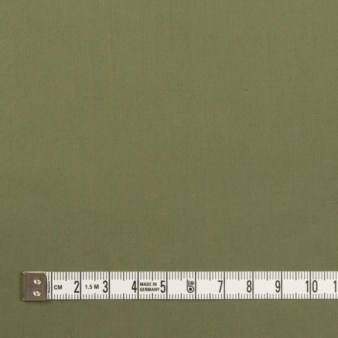 コットン&ポリウレタン×無地(カーキグリーン)×タイプライター(高密ローン)・ストレッチ_全4色 イメージ4