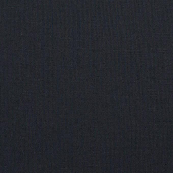 コットン&ポリウレタン×無地(ダークネイビー)×タイプライター(高密ローン)・ストレッチ_全4色 イメージ1