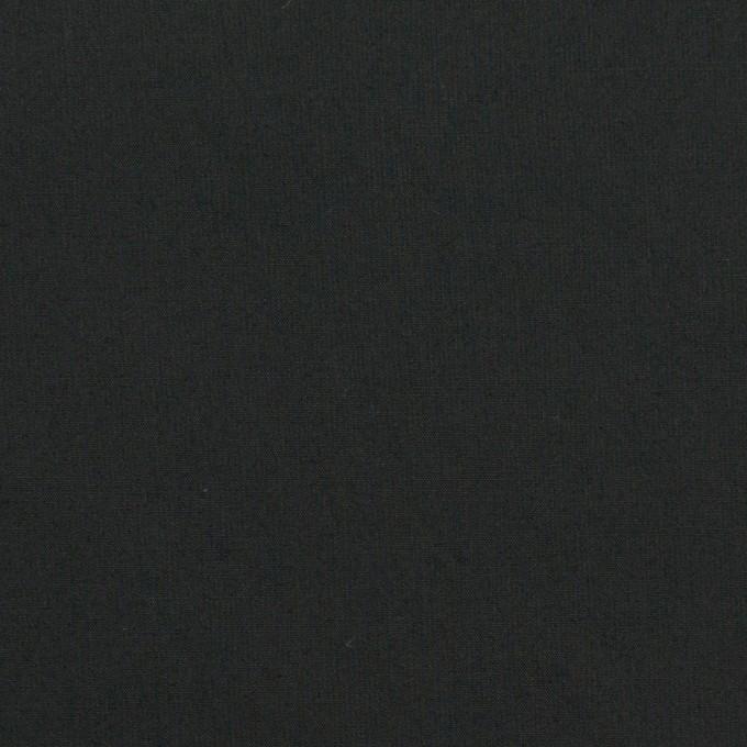 コットン&ポリウレタン×無地(ブラック)×タイプライター(高密ローン)・ストレッチ_全4色 イメージ1