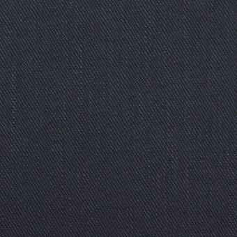 リネン&コットン混×無地(ネイビー)×サージストレッチ