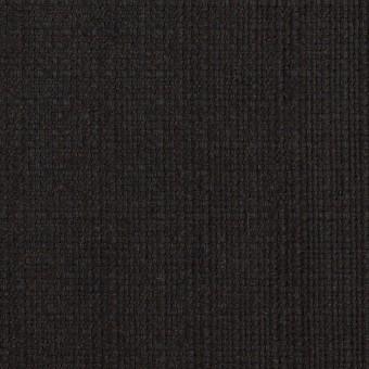 リネン&コットン×無地(チャコールブラック)×斜子織