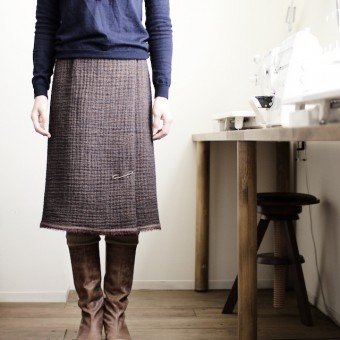 型紙がいらないスカート