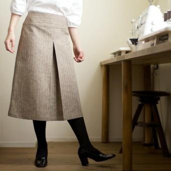 「ボックスプリーツのスカートをつくるワークショップ」(1:27・日)のごあんない