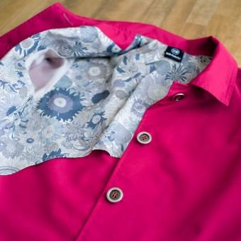 FAB #040 ストロベリーレッドのギャバジンでつくるスプリングコート