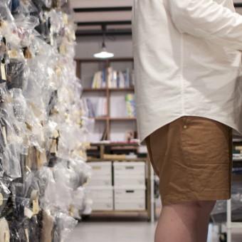 もしもミシンが使えたら。。。#036 コットンキャンバスのハーフパンツ(完成だ!僕の夏休みだ!の巻)