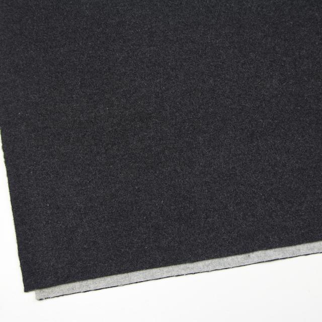 ウール×無地(チャコールグレー&ライトグレー)×Wフェイスビーバー_全3色