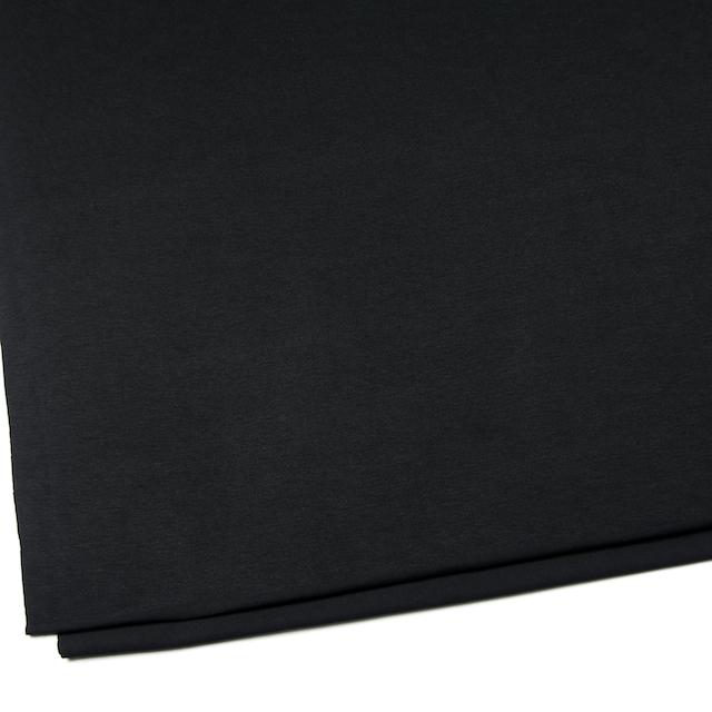 コットン&リヨセル混×無地(ブラック)×天竺ニット_全4色