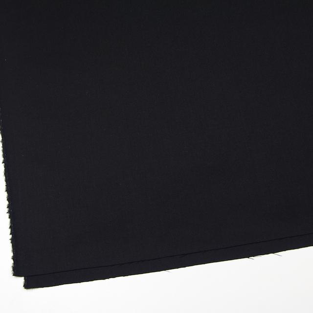 ウール&ポリウレタン×無地(ブラック)×サージストレッチ