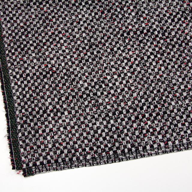 ウール&ナイロン×ミックス(シルバー&ブラック)×ファンシーツイード_イタリア製