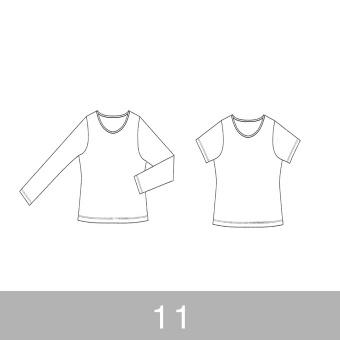 オリジナルパターン#001_Tシャツ&ロングスリーブTシャツ_11号 サムネイル1