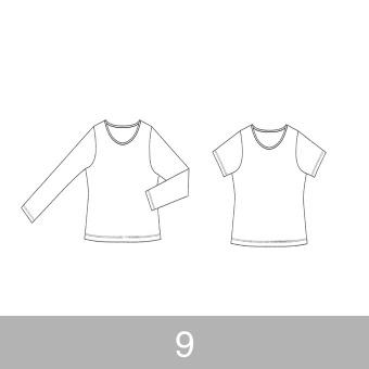 オリジナルパターン#001_Tシャツ&ロングスリーブTシャツ_9号 サムネイル1