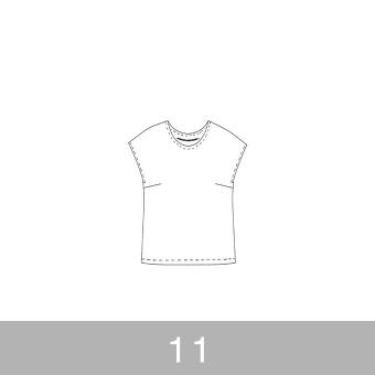 オリジナルパターン#002_フレンチスリーブブラウス_11号