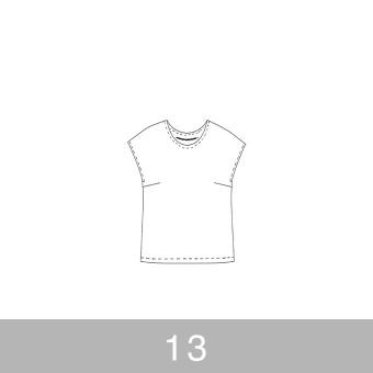 オリジナルパターン#002_フレンチスリーブブラウス_13号