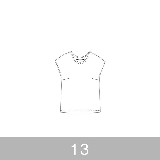 オリジナルパターン#002_フレンチスリーブブラウス_13号 イメージ1