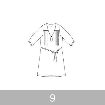 オリジナルパターン#004_五分袖ワンピース_9号 サムネイル1