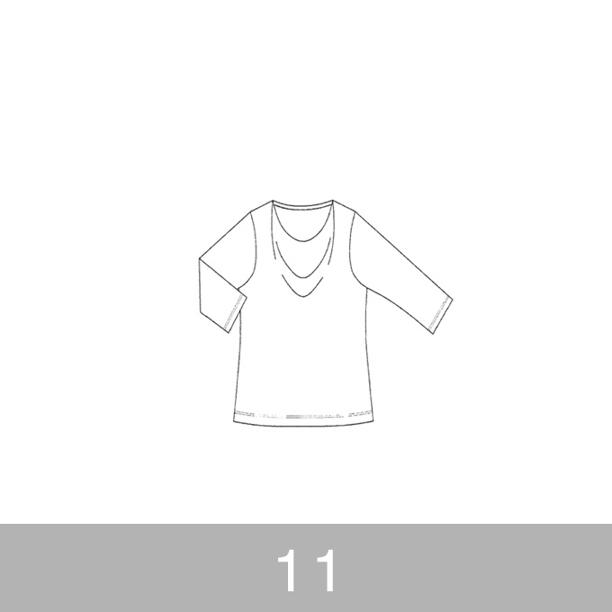 オリジナルパターン#005_ドレープカットソー_11号 イメージ1