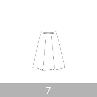 オリジナルパターン#007_タックスカート_7号