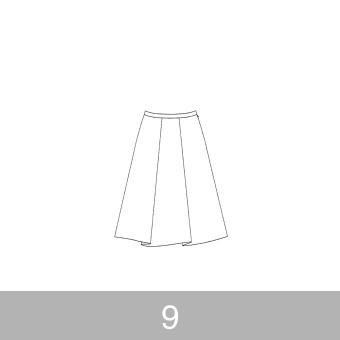 オリジナルパターン#007_タックスカート_9号