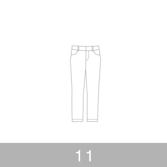 オリジナルパターン#010_クロップドパンツ_11号