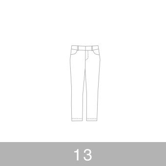 オリジナルパターン#010_クロップドパンツ_13号 サムネイル1