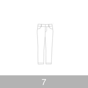 オリジナルパターン#010_クロップドパンツ_7号