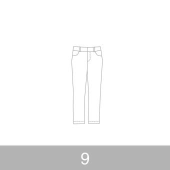 オリジナルパターン#010_クロップドパンツ_9号