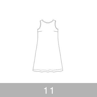 オリジナルパターン#011_ノースリーブワンピース_11号 サムネイル1