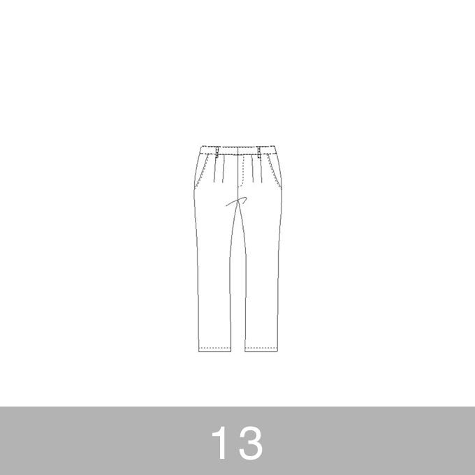 オリジナルパターン#012_テーパードパンツ_13号 イメージ1