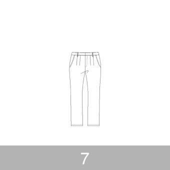オリジナルパターン#012_テーパードパンツ_7号