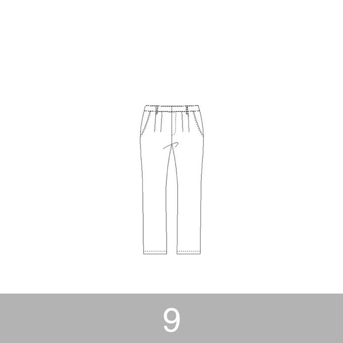 オリジナルパターン#012_テーパードパンツ_9号 イメージ1
