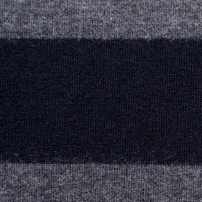 ウール×ボーダー(グレー&ネイビー)×天竺ニット イメージ1