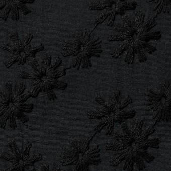 コットン×フラワー(ブラック)×シーチング刺繍(着分) サムネイル1