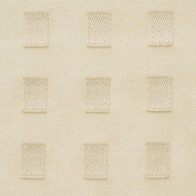 コットン×スクエア(ベージュ)×ボイルジャガード_全6色 イメージ1