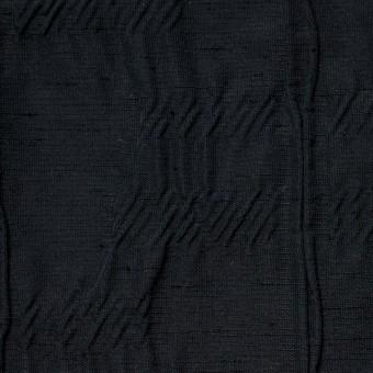 レーヨン&ナイロン混×幾何学模様(ブラック)×タテタック サムネイル1