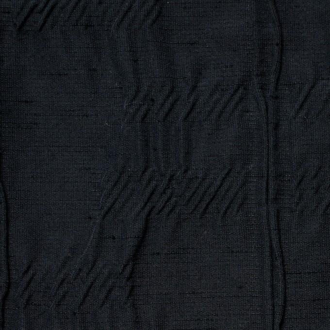 レーヨン&ナイロン混×幾何学模様(ブラック)×タテタック イメージ1